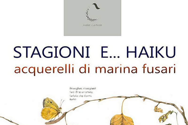 Stagioni e Haiku, acquarelli di Marina Fusari